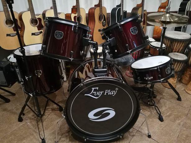 Perkusja + talerze + stołek Black Tiger JBP1103 WR Ever Play drums