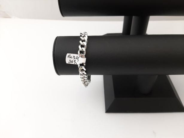 Srebrna bransoleta Pancerka pr.925 36,65g 22cm