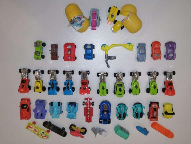 Киндеры игрушки - машинки и мотоцикл катер самокат хот вилс