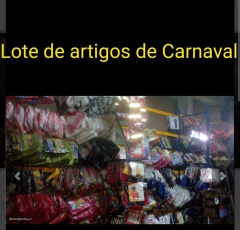Lote de artigos de Carnaval