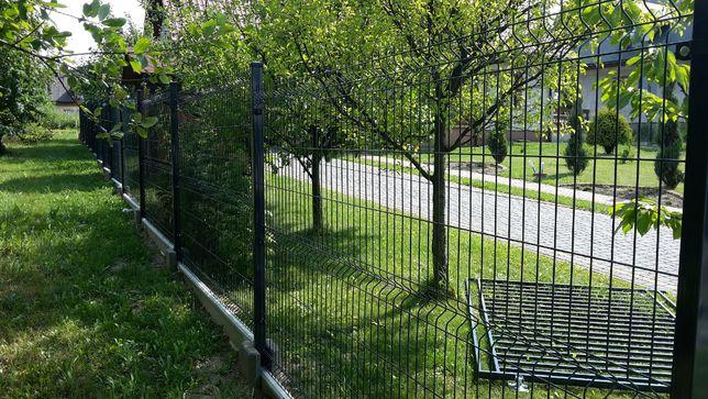 Kompletne ogrodzenie panelowe fi4 173cm /ocynk + kolor