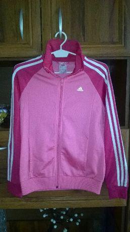 damska bluza bluzka bluzeczka adidas różowa rozpinana suwak rozmiar L