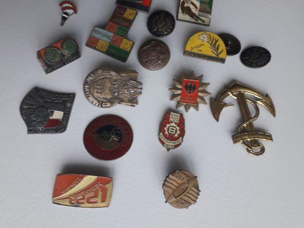 Stare Przypinki odznaki guziki