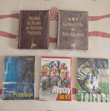 """Vendo Lote 5 Livros Futebol Completos """"A Bola"""""""