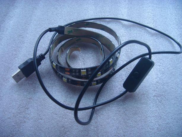 Fita led branco resistente a água USB 5V com interruptor