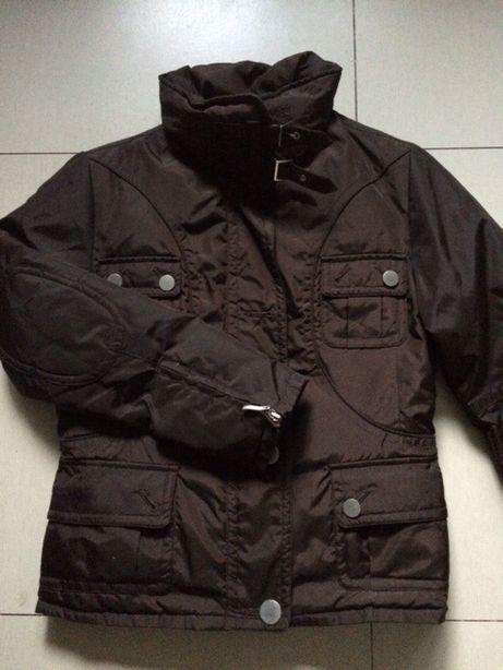 Ciepła zimowa kurtka brązowa rozmiar L