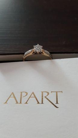 Złoty Pierścionek Zaręczynowy Z Diamentem APART