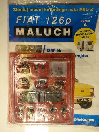 Kolekcja Deagostini Metalowy Model FIATA 126p z przyczepą nr: 4