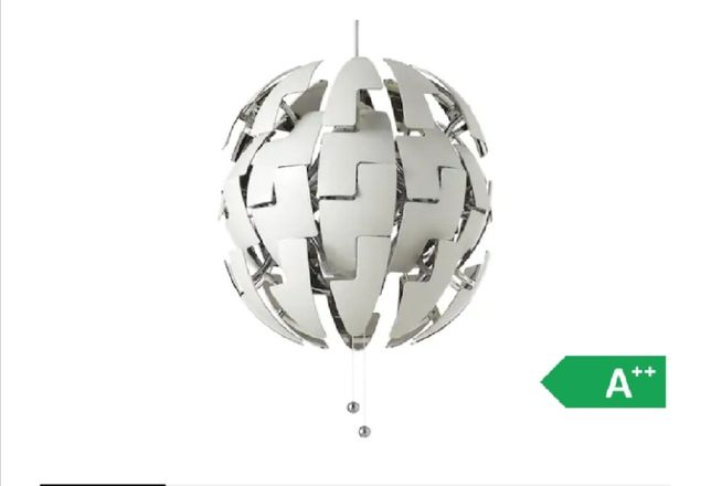 Lampa wisząca biało srebna Ikea