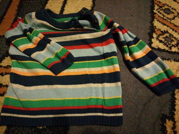 Sweterek w paski 12-18 mcy