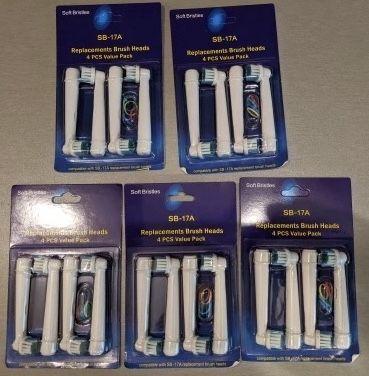 Oral-B 4 шт насадки головки знімні електрична щітка зубна догляд топ