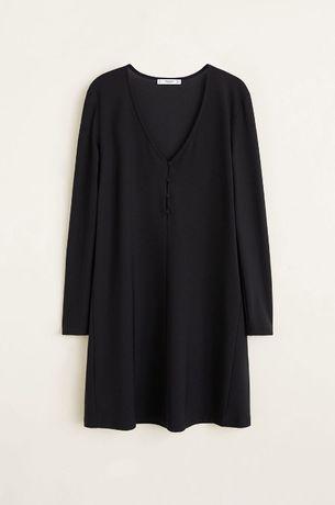 Mango czarna sukienka mini valdu