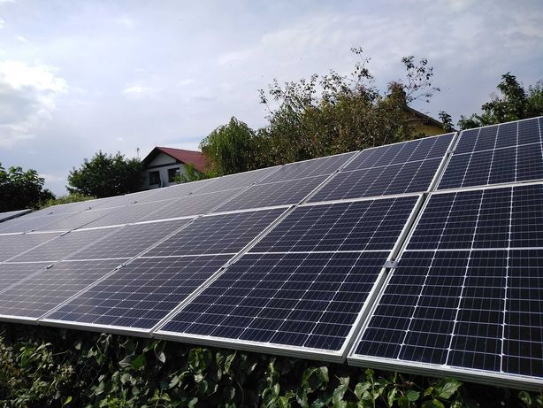 Elektrownia słoneczna  panele fotowoltaiczne inwerter