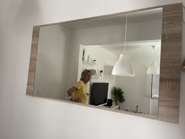 Espelho de sala retangular
