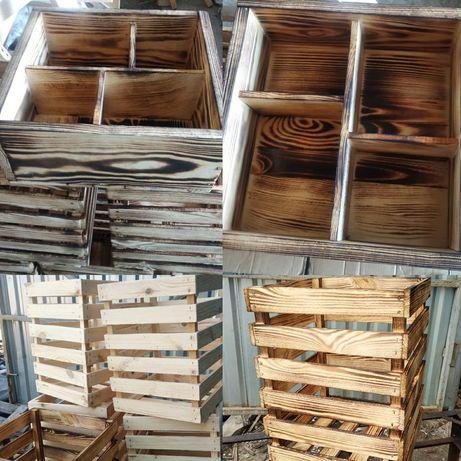 Декор в дом, на дачу, деревянные ящики, кашпо, изделия из дерева