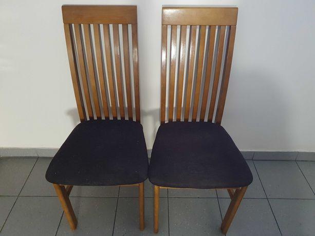 Krzesło drewniane szczebelki vintage 2szt krzesła art retro prl klasyk