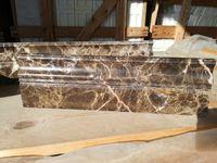 Cokół Cokoły marmurowe Emperador 12 cm wysokie