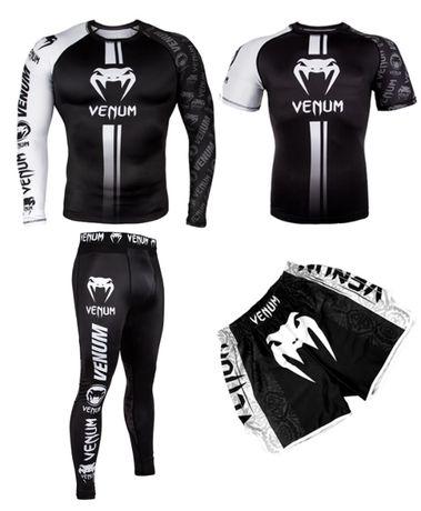 Комплект 3 в 1 Venum Logos venum венум рашгард, футболка, шорты.