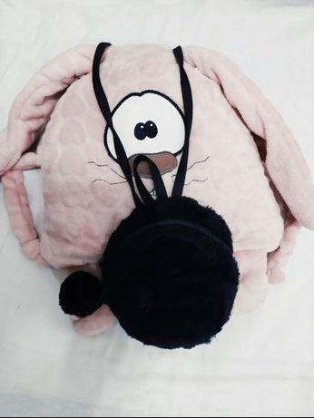 Меховой  маленький рюкзак