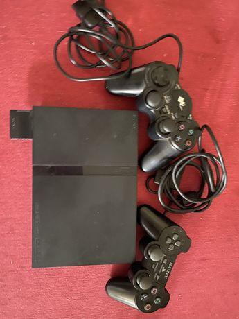 Playstation 2 com 2 comandos