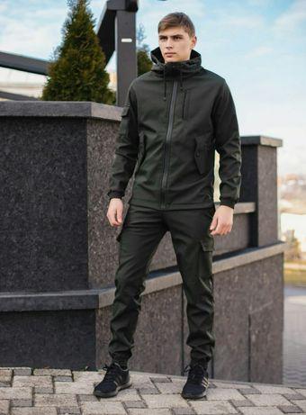 Костюм мужской цвет черный. хаки. синий и серый размер S-3XL