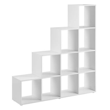 Półka stojąca, regał na książki pod skos, schodkowy 137 cm
