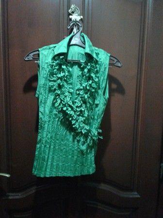 блуза зеленая летняя