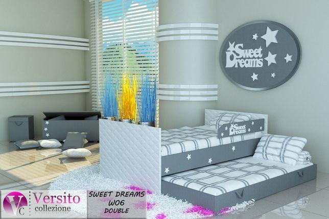 Łóżko piętrowe,wysuwane,dla dzieci,dziecięce 2 materace 10cm w cenie