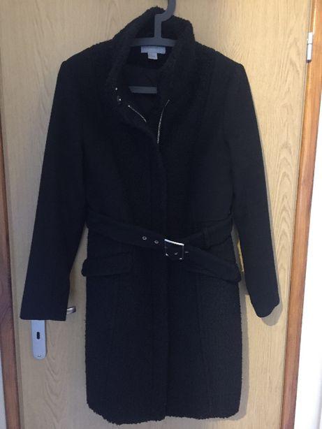 Płaszcz zimowy H&M czarny damski rozmiar 38