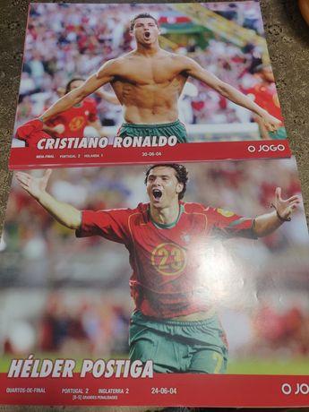 Coleção posters Futebol - Portugal Seleção Nacional Euro 2004