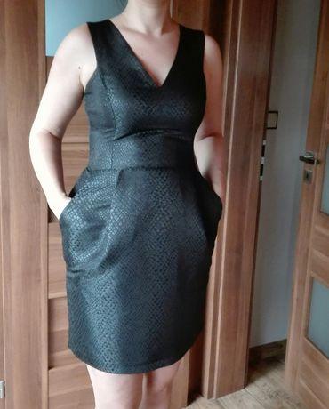 Sukienka czarna wieczorowa/ koktajlowa MOHITO rozm.40