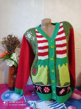 Новогодняя кофта свитер на пышку,батал