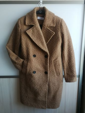 Reserved płaszcz camel XS 34 jak wełniany bukla toffi carmel