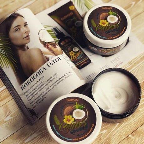 Крем баттер для тела с кокосовым маслом summer cocolo farmasi фармаси