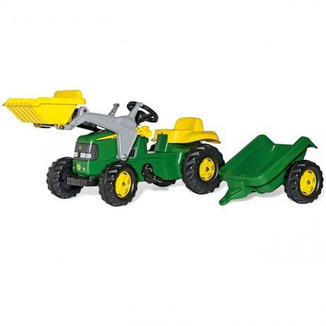 Traktor na pedały John Deere z łyżką i przyczepą 2-5 Lat