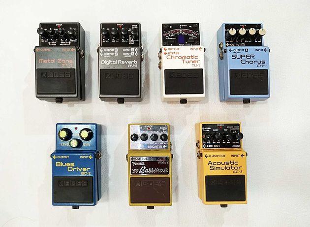 Pedais Boss Reverb Chorus Fender Bassman Blues Metal Zone Tuner