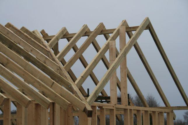 Drewno konstrukcyjne, więżba, krokwie