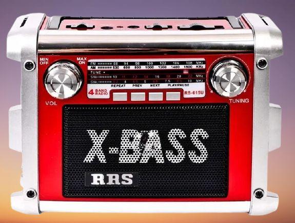 Radio FM SW AM Z Akumulatorem USB AUX SD MP3