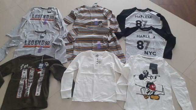 Nowe bluzki dla chłopca r. 128