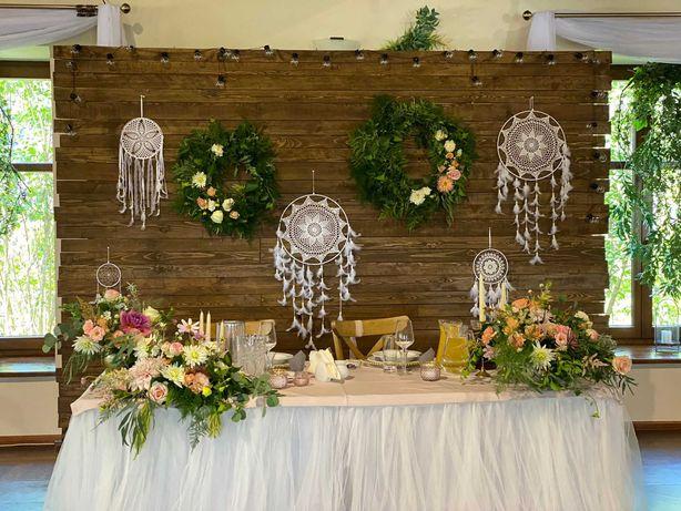 WYNAJEM Ścianka weselna dekoracyjna drewniana rustykalna boho wesele