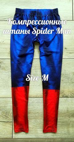 Компрессионные штаны тайтсы Spider Man (nike pro combat under armour)