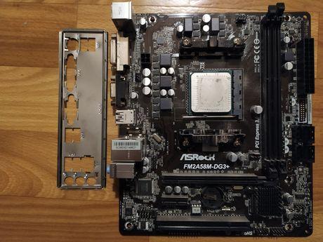 Материнська плата FM2+ fm2a58m-dg3+ та процесор a-4 4000