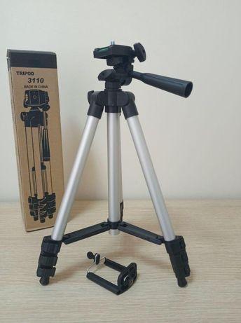 Трипод для телефона камеры новый с чехлом металлик