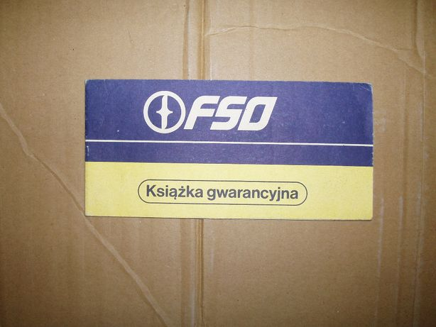 FSO Książka Gwarancyjna - unikat - oryginał