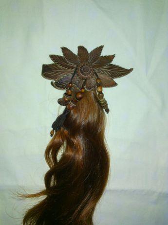 Шиньон-довяз из натуральных волос