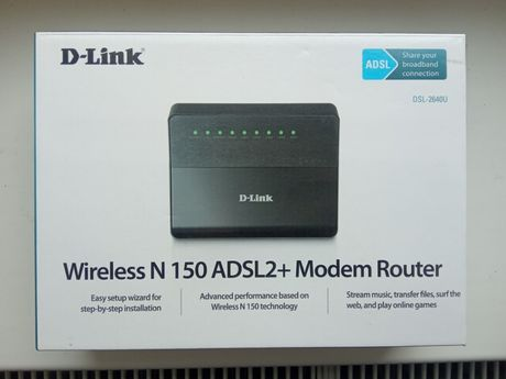Маршрутизатор D-Link DSL-2640U Беспроводной маршрутизатор ADSL2+