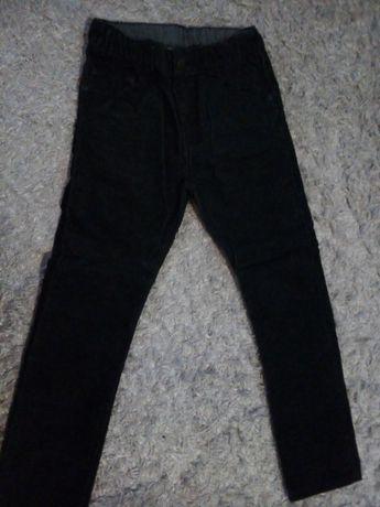 Spodnie rurki sztruks 128 H&M