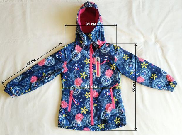 XU-Kids. Весенняя непромокаемая куртка на девочку 6-8 лет