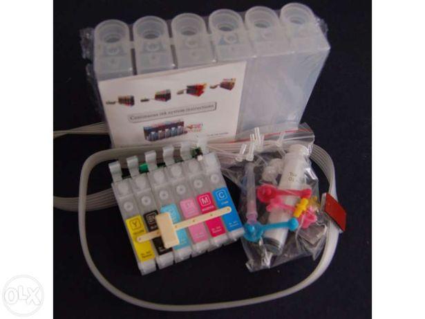 Tinteiros Recarregáveis/CISS epson T0801 a T0806