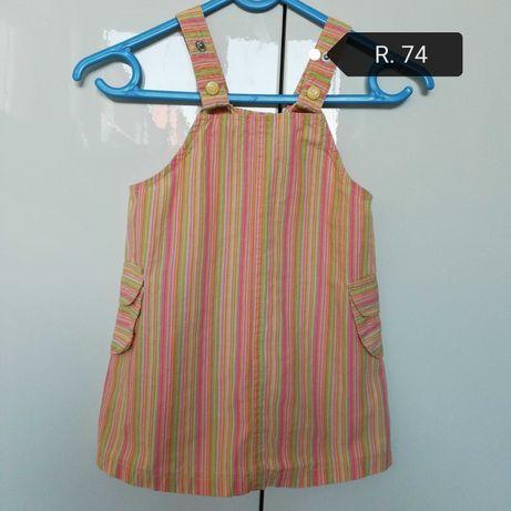 Sukienka dla dziewczynki w rozmiarze 74